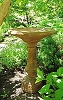 Henri Studios Wide Weathered Birdbath