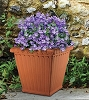 Henri Studios Square Fluted Planter