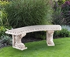 Henri Studios Curved Dolphin Bench