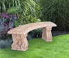 Henri Studios Curved Grapeleaf Bench