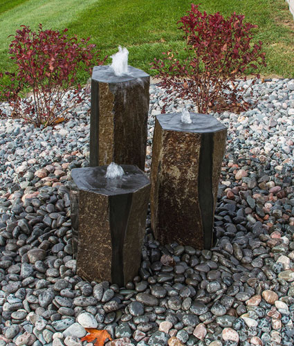 Aqua Bella Triple Basalt Complete Fountain Kit - Polished Tops and Sides