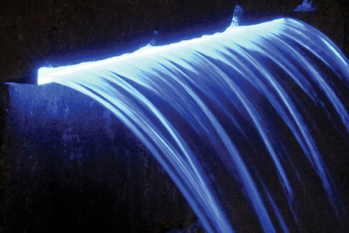 Atlantic Lighted Colorfalls - 24 Inch Blue LED