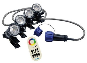 Airmax Color Changing LED Lights - 4 Lights - 100 ft. Cord