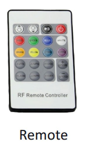 ProEco Waterfall LED Color Changing Remote and Controller